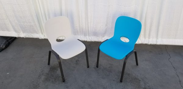 Picture of White Kids Chair and Blue Kids Chair