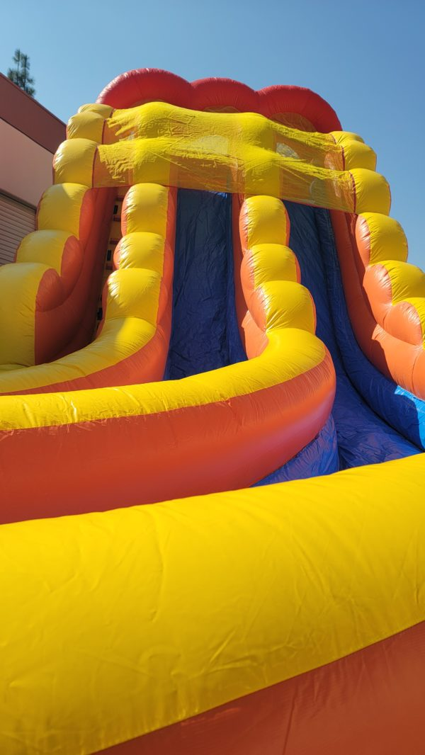 Closeup of Lanes on the 20ft Inflatable Slide