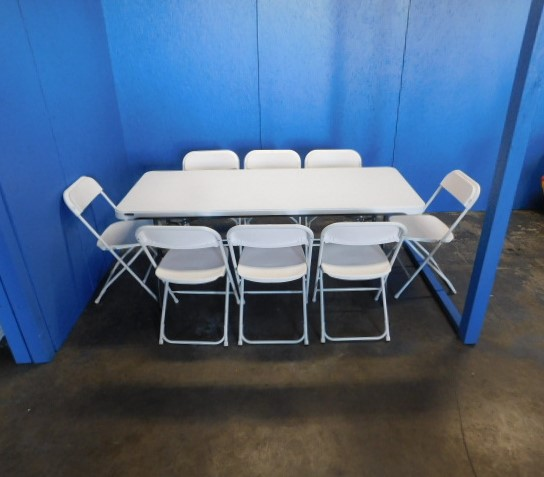 Photo of 6ft table with 8 chairs