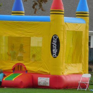 Yellow Crayon Bounce House
