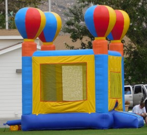 Side View of Blue and Yellow Balloon Jumper