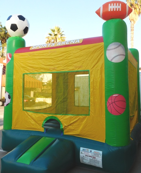 Picture of Side pillar on sports bounce house