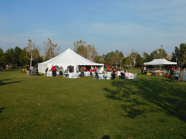 40x40 tent, tables, chairs, and a coffee bar!