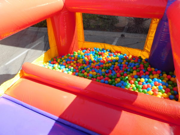 Close Up Photo of Ball Pond area in toddler jumper