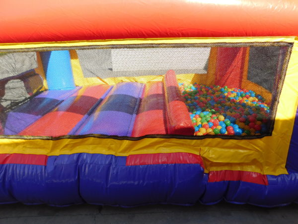 Close up photo of toddler jump and ball pond pit