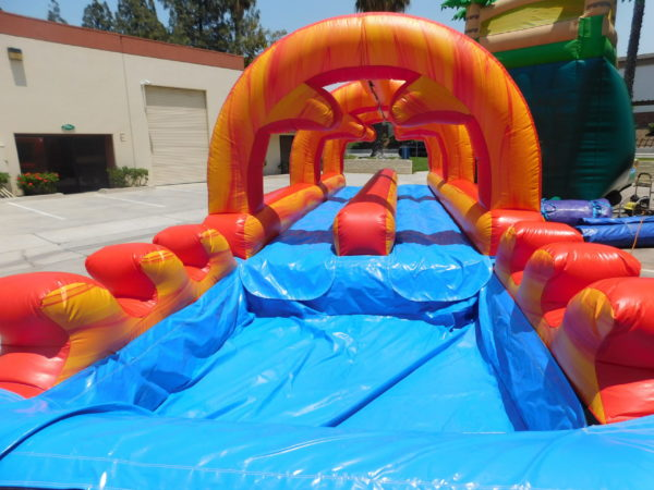 Finish End of Fire Marble Inflatable Slip-N-Slide