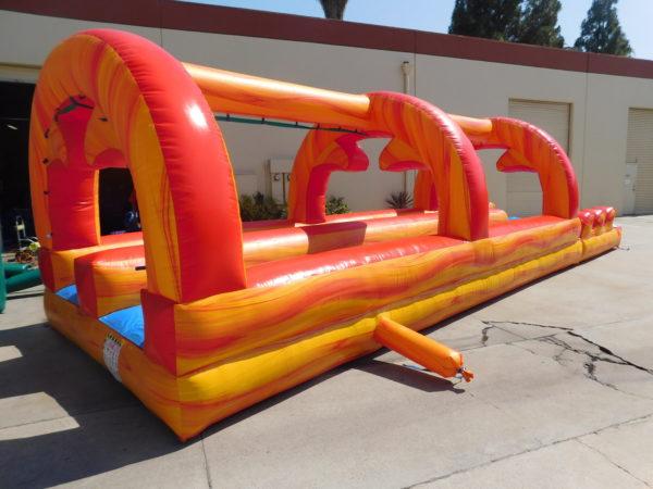 Full View of Fire Marble Slip-N-Slide Inflatable