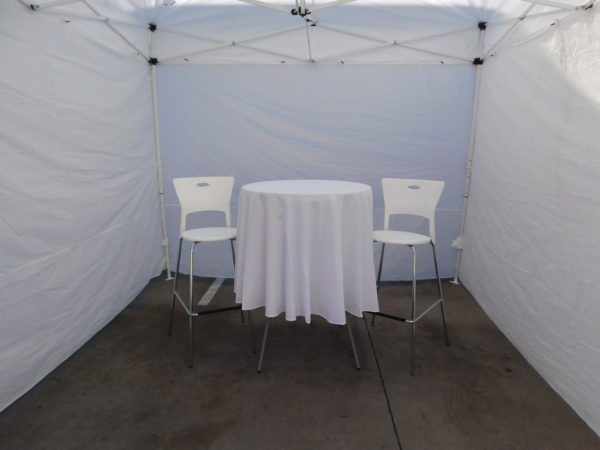 Photo of Cocktail Table with White Linen