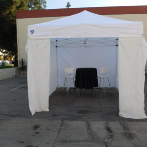 10x10 White Pop Up Canopy with Walls