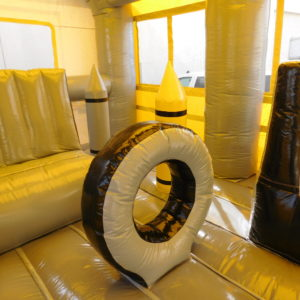Inside view of the School Bus Combo Inflatable