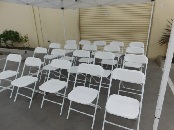 Photo of a group of folding chair rentals