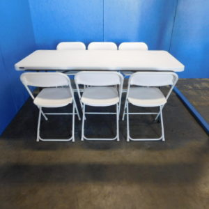 Picture of 6ft Table with 6 chairs