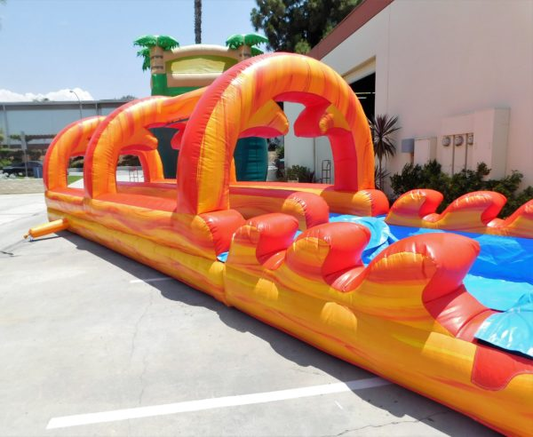 Inflatable Slip-N-Slide Orange and Red Fire Marble
