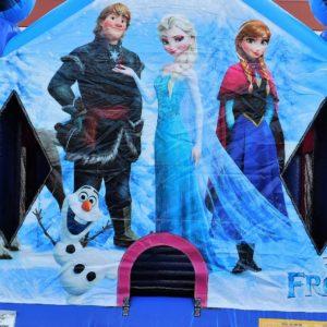 Frozen Bounce House Close Up