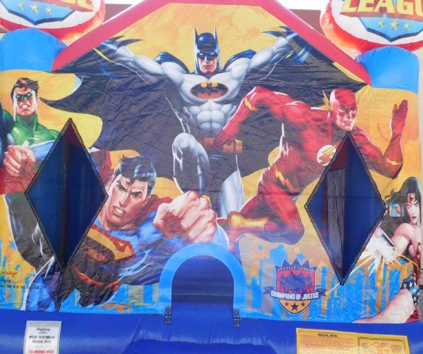 Justice League Jumper Closeup of Characters