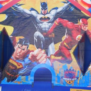 Closeup of Justice League Bouncer