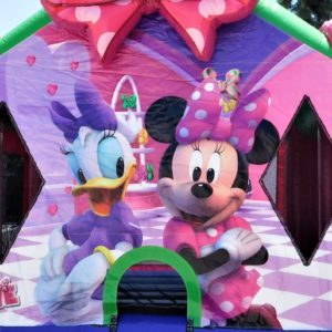 Closeup of the Minnie Mouse Bounce House