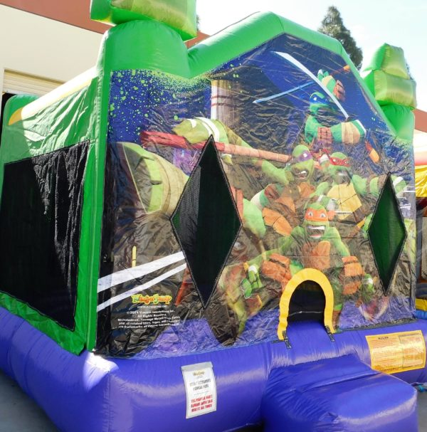 ninja Turtles Bounce House features all 4 ninja turtles