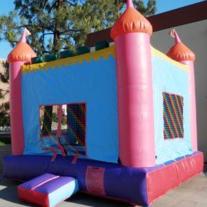 Photo of princess castle bounce house
