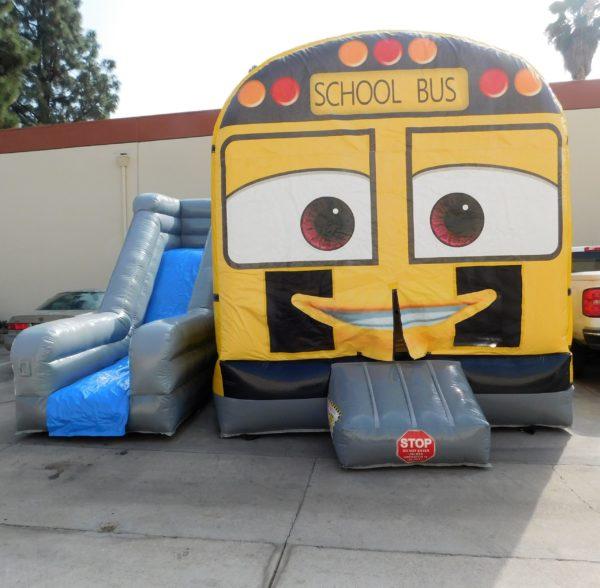 School Bus Combo Jumper and slide